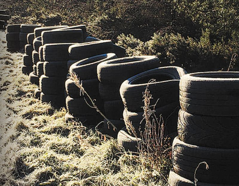 Shock as tyres dumped at roadside