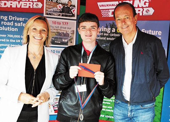 Evan into final of Young Driver Challenge competition