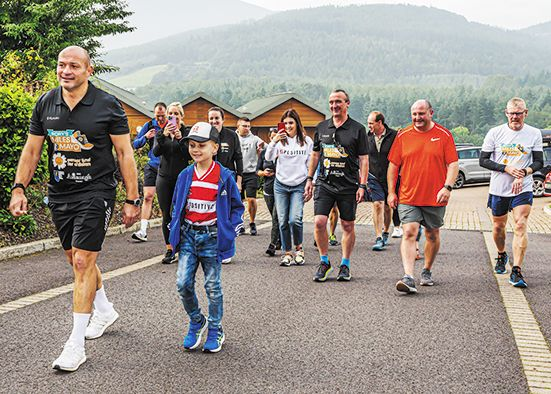 Rory's charity walk to Mayo