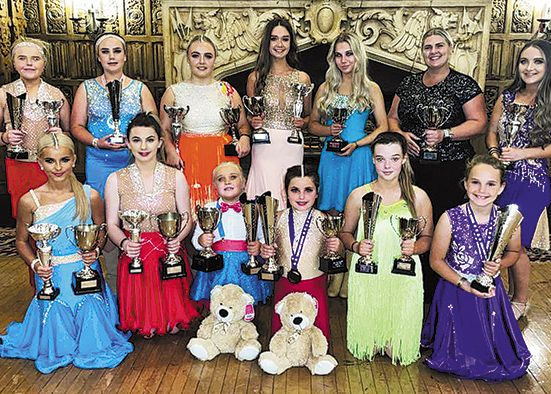 Jenna Finnegan Dance Company members on top of the world