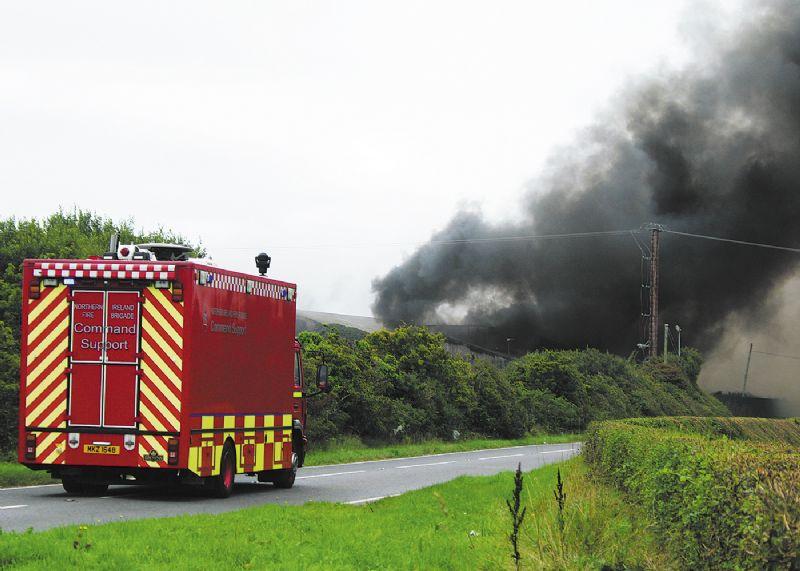 Factory blaze sparks appeal